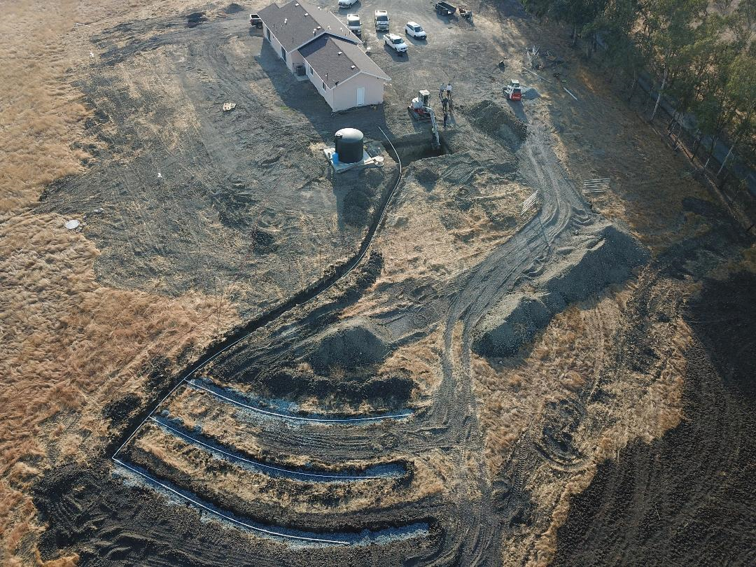 Ariel View of New Septic System